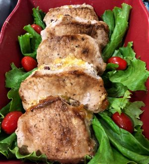 Smoky Stuffed Pork Chops